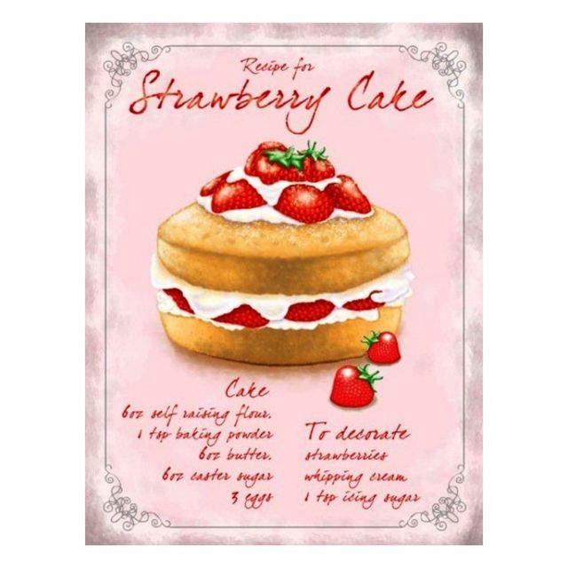 Universel Plaque gateau recette strawberry fraises deco cuisine