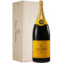 Champagne Veuve Clicquot - Brut Carte Jaune Nabuchodonosor avec Caisse Bois