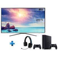 Samsung - TV LED 65'' 4K UHD Smart TV -UE65KU6400 + Console PS4 1To + Manette Dualshock 4 Noire V2 + Casque TRITTON Kama