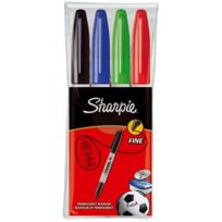Sharpie - marqueurs ogive pf coloris assortis noir, bleu, rouge, vert