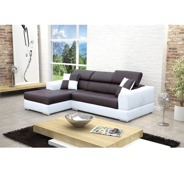 salon en cuir blanc free salon cuir et tissu canape angle droit ultra design en gris chine. Black Bedroom Furniture Sets. Home Design Ideas