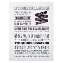 """Paris Prix - Toile Imprimée """"Maison"""" 58x78cm Blanc"""