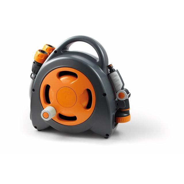 Divers Gf - Dévidoir Aquabag Maxi + raccords et lance d'arrosage 16,5 m - Orange