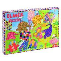 Petit Jour Paris - Puzzle 24 pièces : Elmer et ses congénères