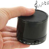 Yonis - Mini Enceinte Bluetooth universelle smartphone kit mains-libres Noir