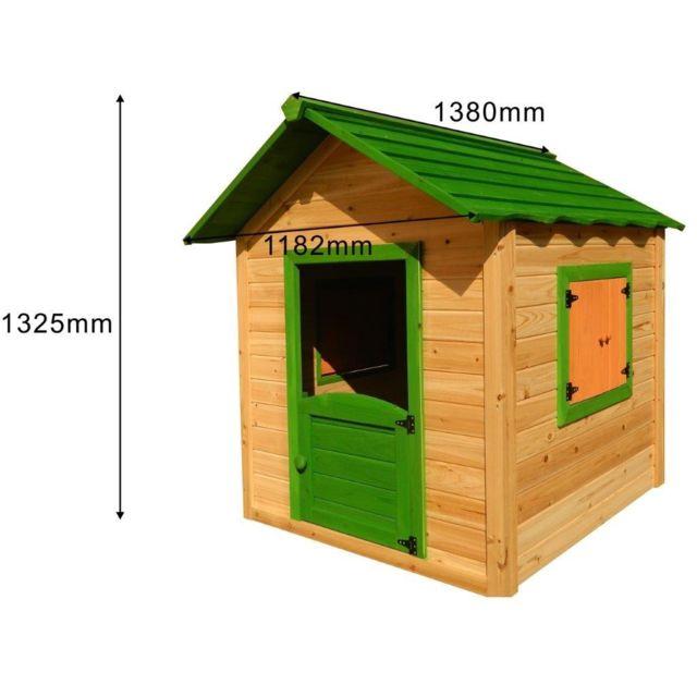 habrita maisonnette en bois pour enfant peinte bois. Black Bedroom Furniture Sets. Home Design Ideas