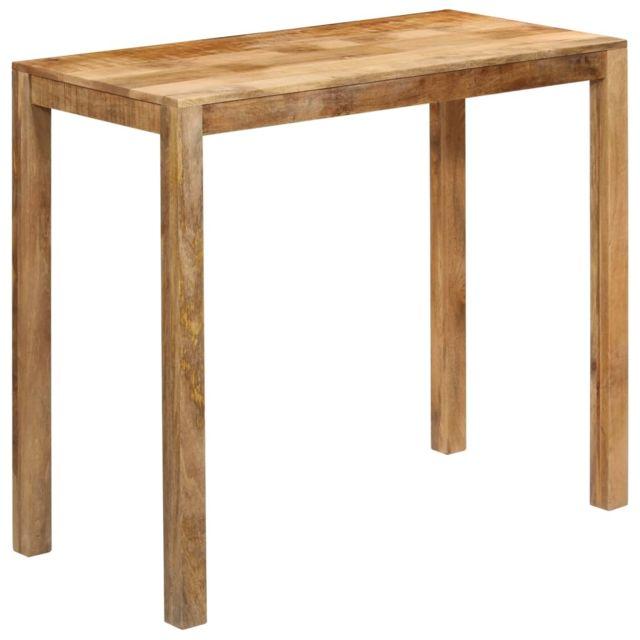 Contemporain Tables reference Nuku?alofa Table de bar Bois de manguier massif 120x60x108 cm