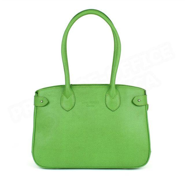 Volumica sac cabas shopping paris cuir vert anis beaubourg - Frais de port gratuit rue du commerce ...