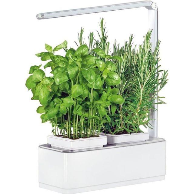 JARDINICE Jardinière avec lampe led intégrée Mini potager