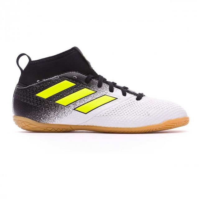 Adidas - Chaussure de foot en salle Jr Ace Tango 17.3 In White-Solar yellow-Core  black Taille 31 - pas cher Achat   Vente Chaussures foot - RueDuCommerce 080021f53ce8