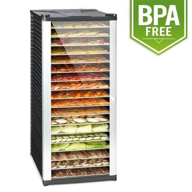 KLARSTEIN Fruit Jerky 18 Déshydrateur alimentaire 18 étages 1000W - acier noir