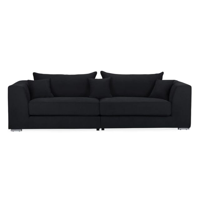 House Bay Canapé en tissu 3 places lounge Edward - Anthracite