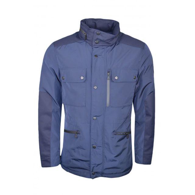 Hackett - Veste imperméable bleu marine pour homme - pas cher Achat   Vente  Blouson homme - RueDuCommerce 66dc8358eac2