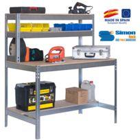 Simon Rack - Kit Etabli 1440x1200x750mm - Bt-1 1200 Galva/BOIS