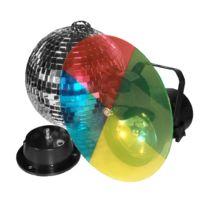 Fiesta - Ensemble boule à facettes + projecteur Party-set 2