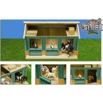 Kids Globe - Wooden Horse Stable Avec Atelier Et Deux LÂCHES BoÎTES