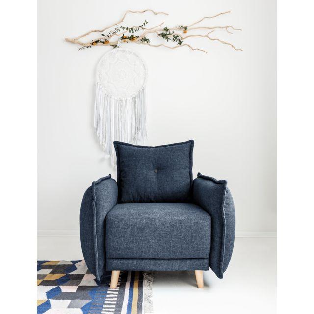 BOBOCHIC LENA - Fauteuil bleu