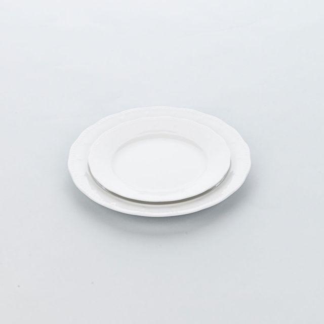 Materiel Chr Pro Assiette Porcelaine Décorée Blanche Prato Ø 190 à 320 mm - Lot de 6 - Stalgast - 19 cm Porcelaine 190 Ø, mm