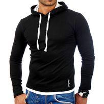 Tazzio - Sweat capuche fashion Sweat 1003 noir et Blanc