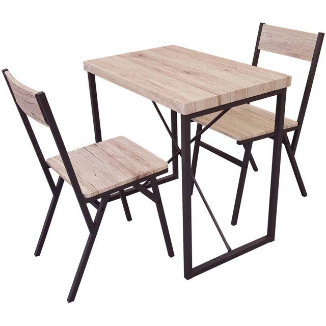 Promobo Table Et 2 Chaises Collection Loft Dock Bar