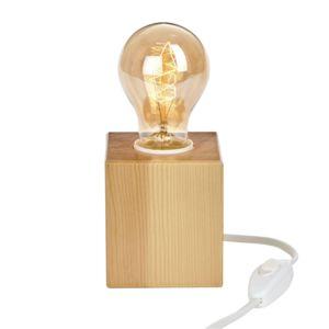 alin a cubik lampe poser carr e en bois 7 5x7 5cm pas cher achat vente lampes poser. Black Bedroom Furniture Sets. Home Design Ideas