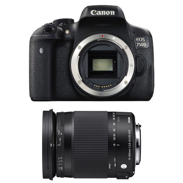Canon Eos 750D + Sigma 18-300mm F3.5-6.3 Dc Os Hsm Contemporary Garanti 3 ans