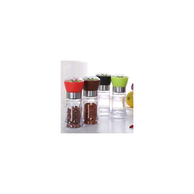 Alpexe Flacon Moulin a moudre poivrier sel epices rechargeable vendu vide 4 couleurs disponible au choix Noir