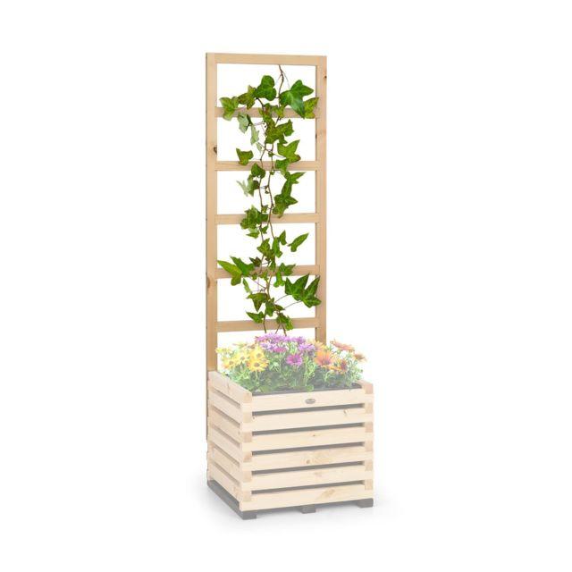 BLUMFELDT Modu Grow 50 UP Treillis pour carré potager , 151 x 100 x 3 cm , bois de pin massif