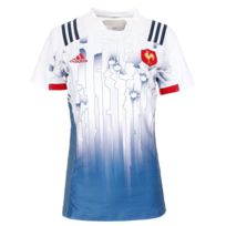 in stock official site lace up in Equipe France Rugby 7 Maillot domicile blanc femme Multicouleur S