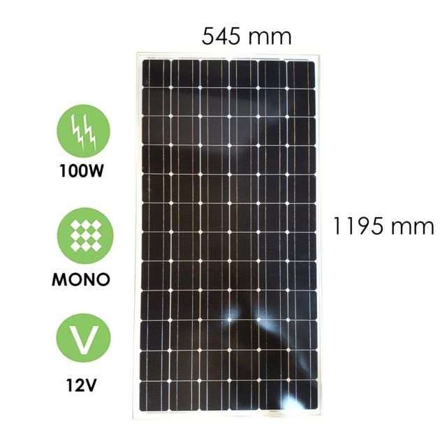 victron panneau solaire 100w 12v monocristallin energy pas cher achat vente panneaux. Black Bedroom Furniture Sets. Home Design Ideas