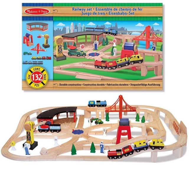 Melissa And Doug Grand circuit de train en bois