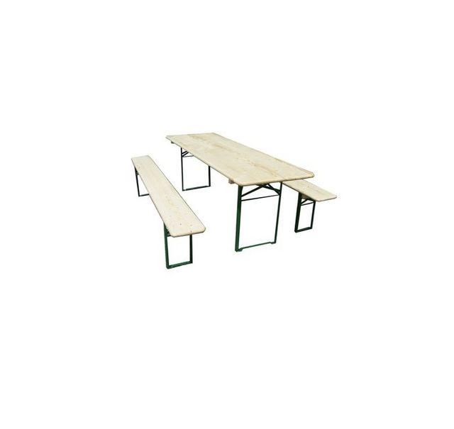 HABRITA Set brasserie COLMAR comprenant 1 table 220 x 70 cm + 2 bancs 8 personnes