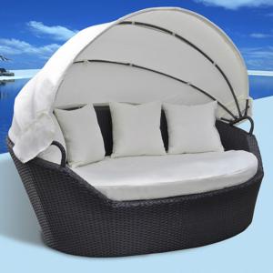rocambolesk superbe canap de jardin lounge en r sine tress e noire neuf nc pas cher achat. Black Bedroom Furniture Sets. Home Design Ideas