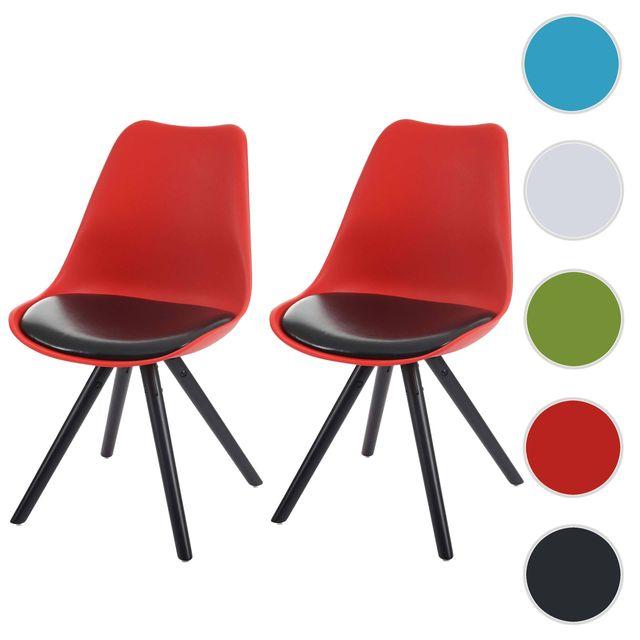 Mendler - 2x chaise de salle à manger Malmö T501, style rétro des ...