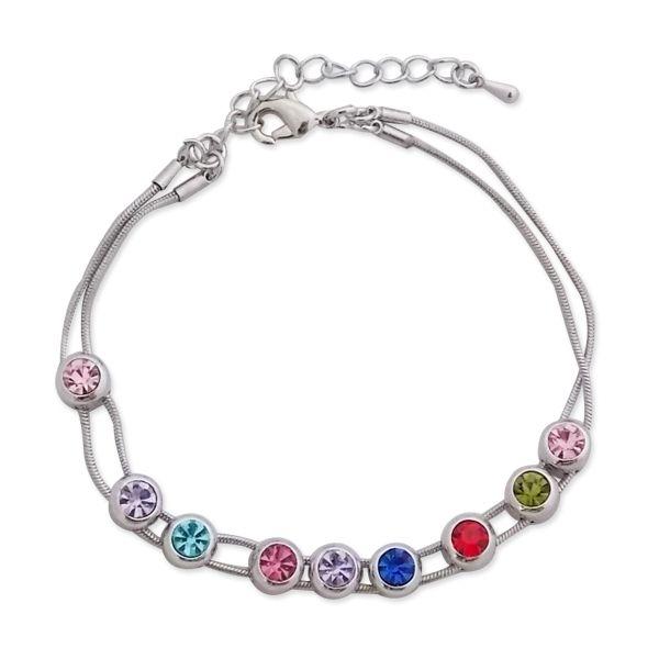 Totalcadeau - Bracelet aux 9 écrins mobiles multicolores bijou fantaisie  pas cher Acier - pas cher Achat   Vente Bracelets - RueDuCommerce 22bde5867220