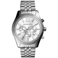 Michael Kors - Montre D'Homme Mk8405 Cadran Argenté Chronographe Bracelet Acier Inoxydable Argenté
