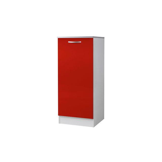 Armoire de rangement L60xH141xP58cm - rouge
