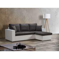 Modern Salon - Canapé d'angle convertible reversible Messina 4 places