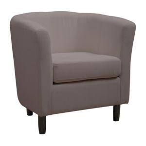 rocambolesk fauteuil cabriolet coton taupe gris pas cher achat vente fauteuils rueducommerce. Black Bedroom Furniture Sets. Home Design Ideas
