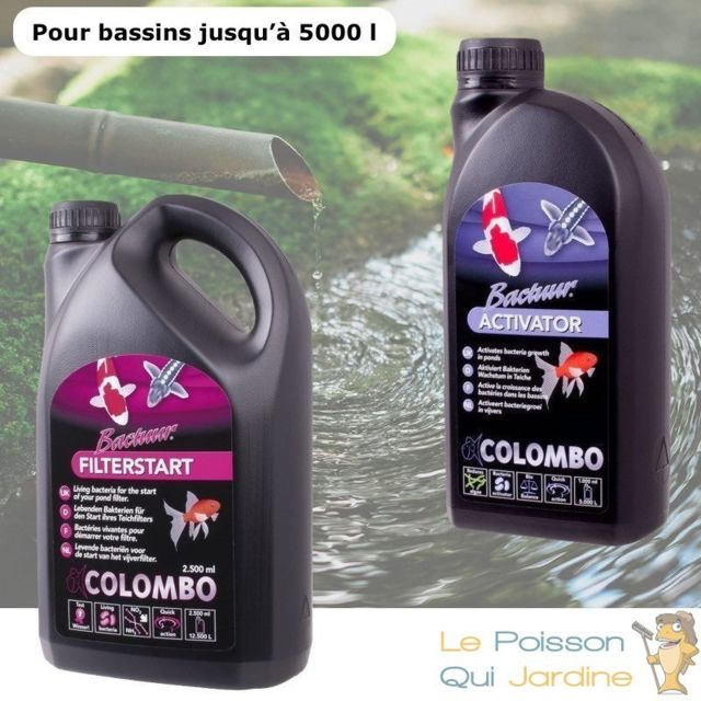 Le Poisson Qui Jardine Pack Bactéries + Activateur pour bassins de jardin de 5000 litres