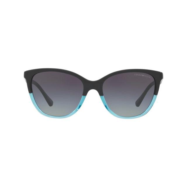 d8757526e0e Armani Ea7 - Emporio Armani - Ea-4110 56328G Noir brillant - Bleu  transparent - Lunettes de soleil - pas cher Achat   Vente Lunettes Tendance  - ...