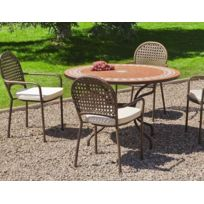 Salon jardin table ronde - catalogue 2019 - [RueDuCommerce - Carrefour]