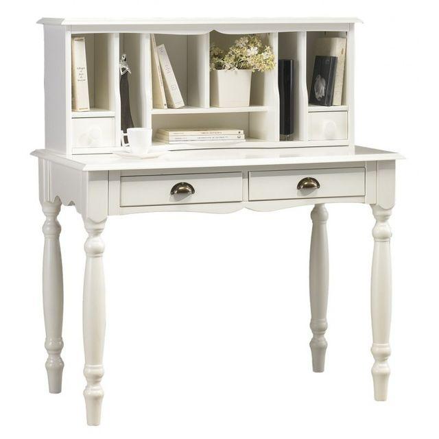 beaux meubles pas chers meuble secr taire bonheur du jour blanc de style anglais pas cher. Black Bedroom Furniture Sets. Home Design Ideas