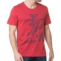 Mustang - Tee-Shirt Homme Rouge Imprimé