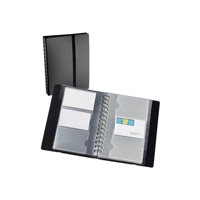 32426e24d7c Exacompta - Porte-carte de visite polypropylène 150 x 200 mm noir - 120  cartes - pas cher Achat   Vente Porte-cartes - RueDuCommerce