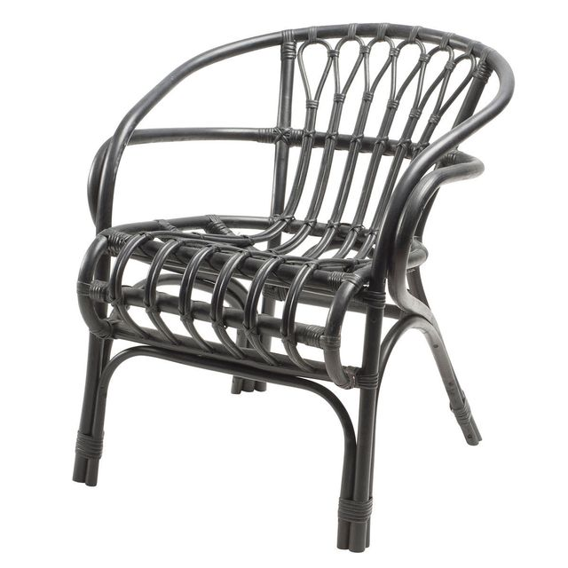 rotin design fauteuil barbade noir bambou pas cher achat vente fauteuils rueducommerce. Black Bedroom Furniture Sets. Home Design Ideas