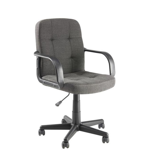 CARREFOUR HOME Fauteuil de bureau Tissu - Gris Fauteuil de bureau tissucoloris gris CARREFOUR HOME. Idéal pour votre bureau !  Ce fauteuil trouvera parfaitement sa place dans votre bureau ou dans la chambre de votre enfant. Très