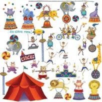 Thedecofactory - Roommates Big Top Circus Peel & Stick Appliques
