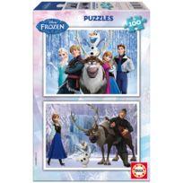 Educa Borras - Puzzle 2 x 100 pièces : La Reine des Neiges Frozen