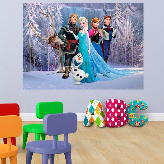 bebe gavroche  poster xxl intisse la reine des neiges
